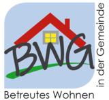 Logo Betreutes Wohnen im Alter (Haus mit Fenster und Text BWG